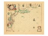 1675  A Chart/of the Sea coasts of/NEW=-ENGLAND/NEW=JARSEY VIRGINIA/MARYLAND and CAROLINA