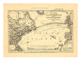 1869  Atlantic Ocean  Telegraph Communication between France  England  and America