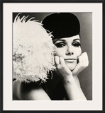 Nicole de la Marge in a Peter Shepherd Velvet Cap  1965