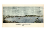 1875  Barrie Bird's Eye View