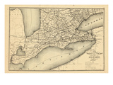 1876  Ontario Province - Railway and Postal Map 1  Canada