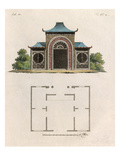 Oriental garden room and plan