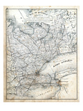 1879  Ontario - Counties - Grey  Simcoe  Ontario  Victoria  York  Peel  Wellington