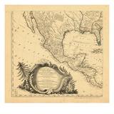 1761, Mexique, Amérique Centrale Giclée