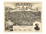 1875  Des Moines Bird's Eye View  Iowa  United States
