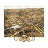 1869  Naperville Bird's Eye View  Illinois  United States