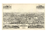 1885  Longwood Bird's Eye View  Florida  United States