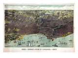 1893  Chicago Bird's Eye View  Illinois  United States