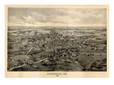 1895  Kennebunk Bird's Eye View  Maine  United States