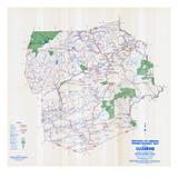 1958  Luzerne County Map  Pennsylvania  United States