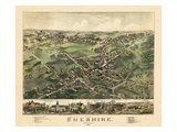 1882  Cheshire Bird's Eye View  Connecticut  United States