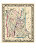 1864, New Hampshire, Vermont, United States Giclée