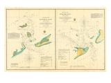 1857  Hatteras and Ocracoke Inlet Chart North Carolina  North Carolina  United States