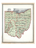 1899  State Map - Government Surveys  Ohio  United States