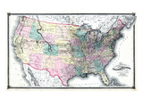 1875  United States Railroad Map  United States