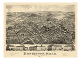 1880  Hopkinton Bird's Eye View  Massachusetts  United States