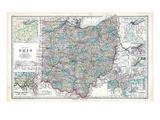 1902  State Map  Ohio  United States