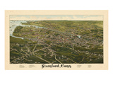 1883  Stamford Bird's Eye View  Connecticut  United States