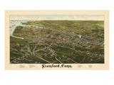 1883  Stamford Bird's Eye View  Connecticut  United States