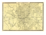 1876  Indianapolis - Plan  Indiana  United States