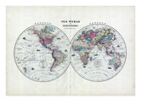 1873  The World in Hemispheres