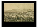 1877  Bethlehem Bird's Eye View  Pennsylvania  United States