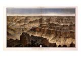1882  Grand Canyon - Sheet XVI - Panorama from Point Sublime  Arizona  United States
