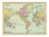 1913, World, World Map Giclée