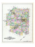 1891, Doylestown, New Britain, Tradesville, Bushington, Furlong, Turk, Pennsylvania, United States Giclée