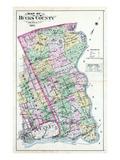 1891  Bucks County Map  Pennsylvania  United States