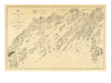 1870  Casco Bay Chart Maine  Maine  United States