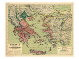 1898, Greece, Albania, Turkey, Macedonia, Bulgaria, Europe, Graecia Giclée