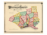 1875  Delaware County Map  Pennsylvania  United States