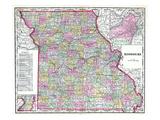 1904  Missouri State Map  Missouri  United States