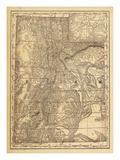 1876  Utah State Map  Utah  United States