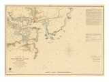 1854  Portsmouth - New Hampshire - Harbor Chart  New Hampshire  United States