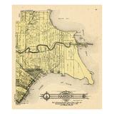 1916  Harrison Township  Lake St Clair  Clinton River  Belvidere Bay  Tucker's Bay  Anchor Bay  Po