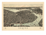 1899  Boston Bird's Eye View  Massachusetts  United States