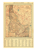 1917  Idaho State Map 1917  Idaho  United States