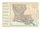 1914  Louisiana State Map 1908 Revised 1914  Louisiana  United States