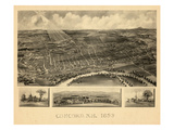 1899  Concord Bird's Eye View  New Hampshire  United States