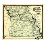 1877  State Map  Missouri  United States