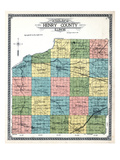1911  Henry County Outline Map  Illinois  United States