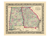 1864  Georgia and Alabama Mitchell Plate  Alabama  United States