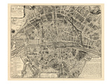 Paris  France  Vintage Map
