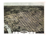 1872  Columbia Bird's Eye View  South Carolina  United States