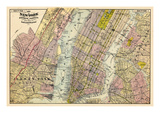 1891  New York  Map  Brooklyn  Jersey City  New York  United States