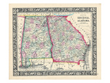1864  Georgia and Alabama Mitchell Plate  Georgia  United States