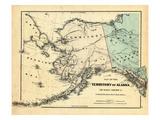 18xx  Alaska Territory Map  Alaska  United States