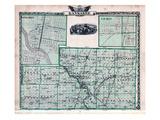 1876  Kankakee County Map  Gilman  Kankakee  Illinois  United States